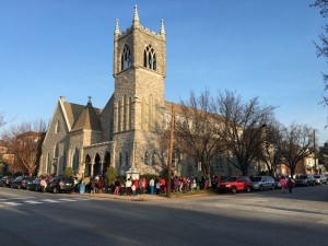 On the morning of December 12, the line of excited families stretched around the corner and down the block.